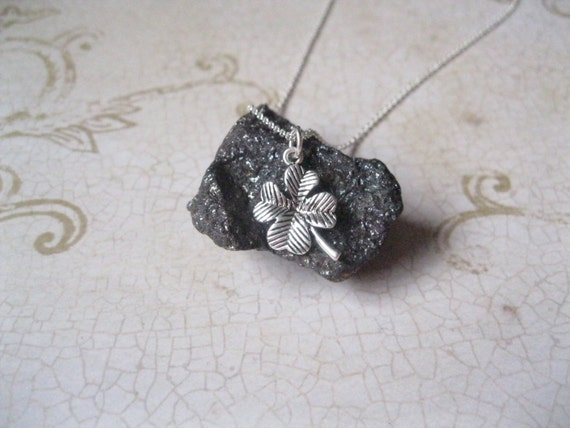 Lucky Clover 4 Leaf Sterling Silver Charm Necklace