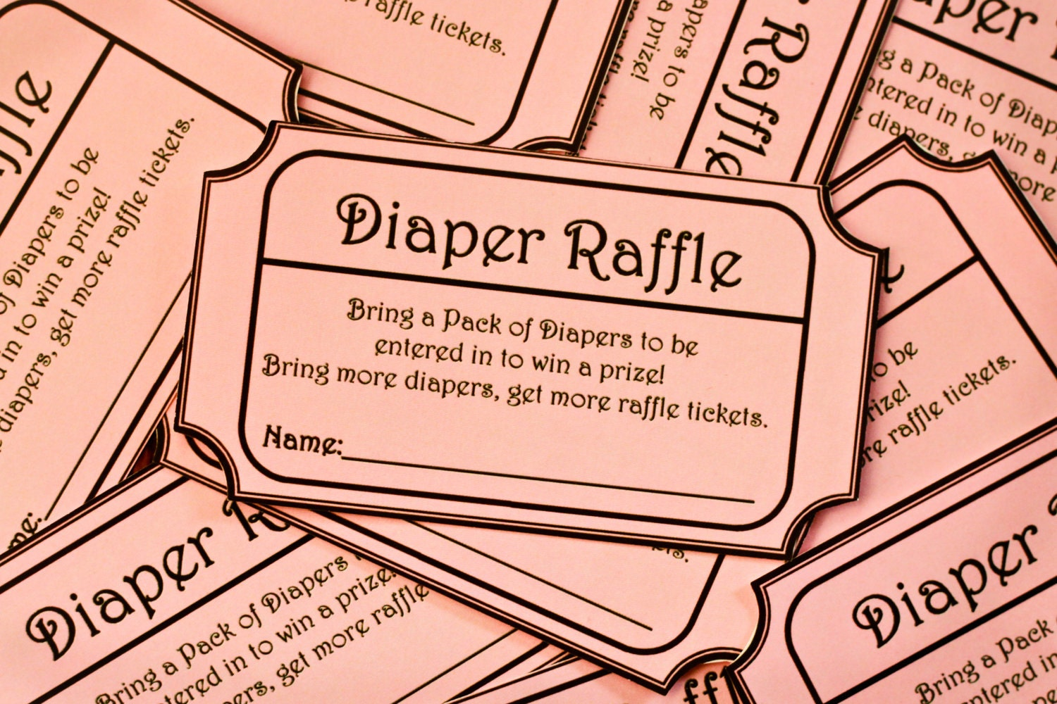 Displaying 18> Images For - Free Printable Diaper Raffle Tickets...