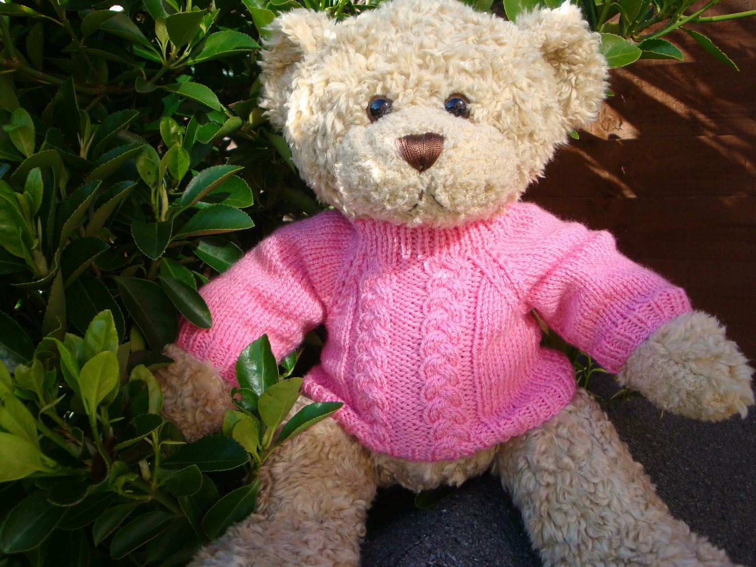 Knitting Pattern Bear Jumper : Knitting Pattern Teddy Bear Sweater for Build a Bear