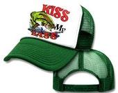 KISS My BASS FISHING Mesh Trucker Hat Cap