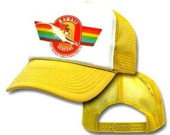 HAWAII SURFER'S RAINBOW Mesh Trucker Hat Cap