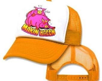 MAKIN' BACON Mesh Trucker Hat Cap