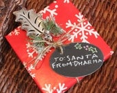 Oval Reusable Wooden Chalkboard Tags