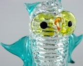 owl art glass figurine vintage glass vintage collectables glass