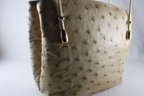 lorenzi ostrich handbag purse mirror bags and purses handbags vintage