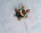 Small Vintage Brooch, Pin, 1960s Vintage Pin, Vintage Niagara Falls, Vintage Jewelry Brooch Turtle, Kids Jewelry, Turtle Pin, CoryBeesAttic