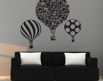 Silhouette balloons wall sticker decal any color