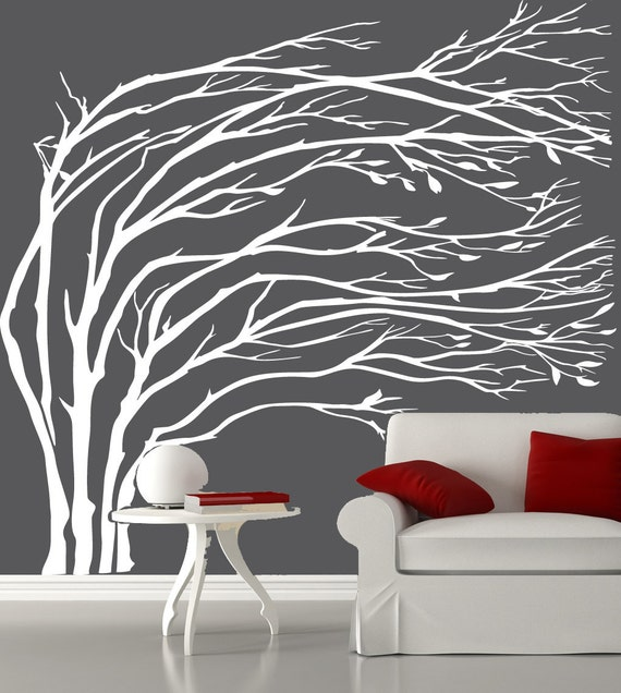Tree Silhouette Wall Art Tree Wall Decal Silhouette
