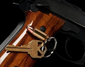 9mm Bullet Key Chain- As used in the Beretta 92/M9 and the Glock 17.