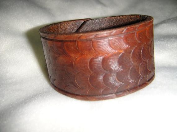 Brown Leather Wrist cuff