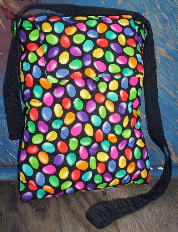 Small Hip bag-purse  Drop Jelly beans Quilted fabric