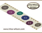 BUTTONS peyote bracelet pattern -  for commercial or personal use