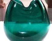 Vintage Blenko Pinch Ivy Vase