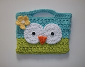 Crochet Owl Purse Summer Breeze
