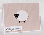 Valentine's Day Card - Handmade - I Love You - Anniversary - Birthday - Sheep