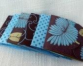 Matchbook Notepad - Matchbook Memo Pad-  Set of 6 -  Brown & Aqua