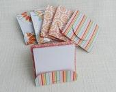 Matchbook Notepad - Matchbook Memo Pad - Set of 6 - Orange & Aqua