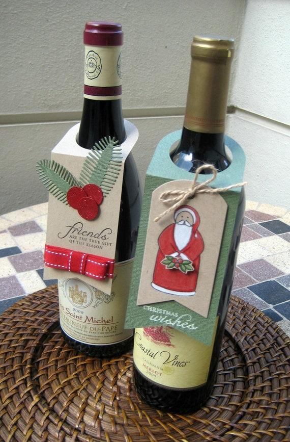 Items similar to Handmade Wine Bottle Gift Tag - Holidays ...
