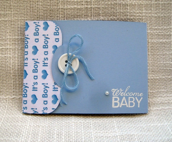 items similar to handmade baby boy gift card holder baby shower