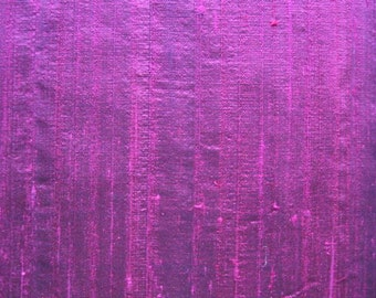 Iridescent Dupioni SILK in Bright luscious Magenta