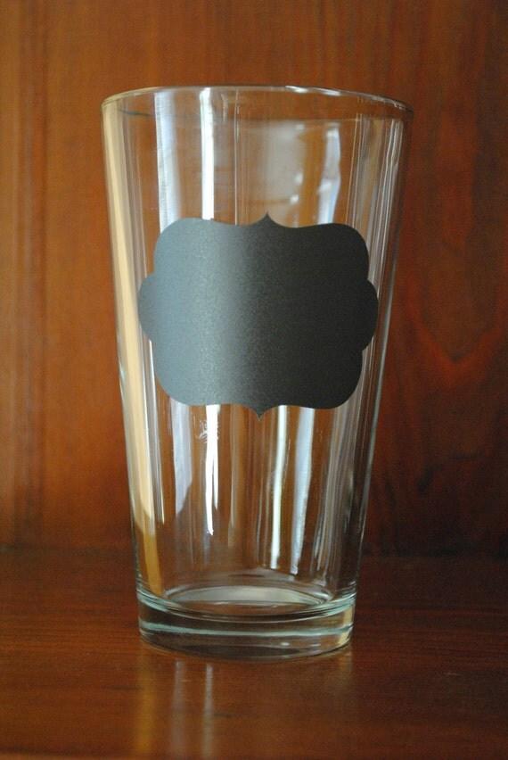 INVENTORY REDUCTION SALE: Chalkboard Vinyl Pint Glass