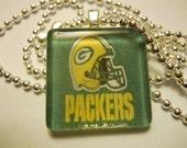 Green Bay Packers Glass Tile Pendant