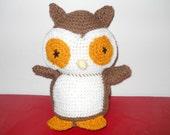 Adorable Crocheted Owl Stuffed Toy