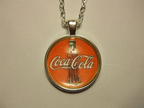 Coca Cola Glass Tile Pendant
