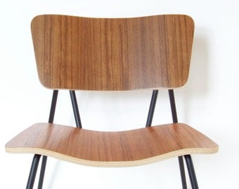 Bent Plywood Teak Chair
