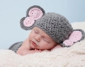 Elephant Hat & Diaper Cover - Great Photography Props