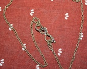 Chain Brass with Fish hook Clasp reserved for Girakittie