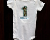 Baby Girl & Boy Clothes - 1st Bday outfit - Any age or color. Embroidered infant bodysuit or shirt. Happy Birthday outfit. Handmade
