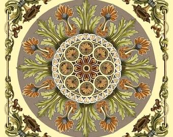 """Baroque Art Tile 6"""" Ceramic Back Splash"""