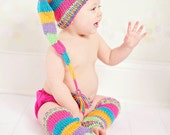 newborn photography prop- The Happy hat and leg warmers set for Newborn baby girl photography prop baby shower gift