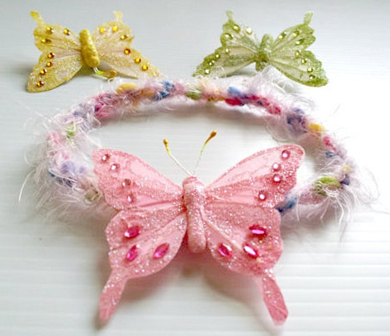 newborn photography prop-luxury fuzzy sring easter colors halo headband,choose feather butterfly,baby shower gift,baby photo prop