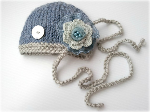 twins baby boy girl knitted beanie hat and headband,twins photo prop,newborn photography prop, baby beanie, baby shower gift