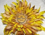 """SALE  -Full Blossom Corona Light Beer Cap Hair Clip - 6"""" in diameter"""