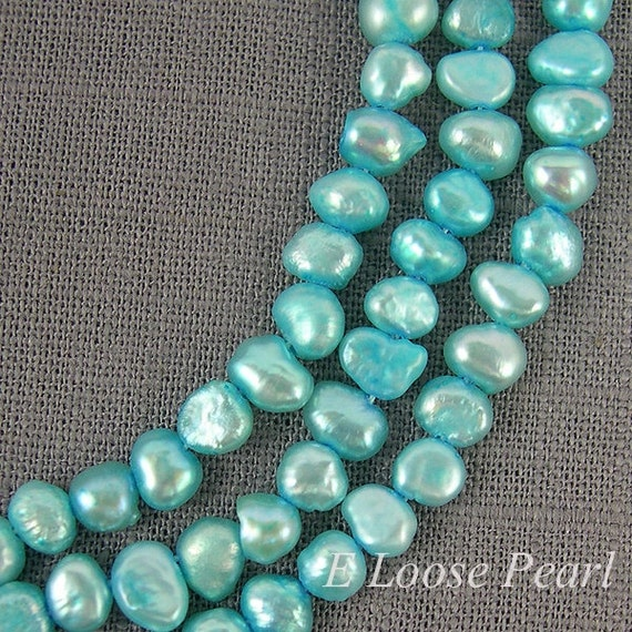 Loose Pearl Freshwater Pearl Beads Sky Blue Color Corn Potato 4.5-5.0mm 80pcs Full Strand