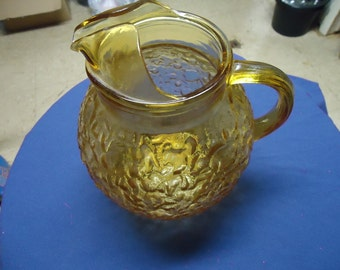 Anchor Hocking Amber Milano Lido Ball Pitcher