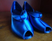 On Hold for Tammy - 40's Daniel Green blue satin pumps