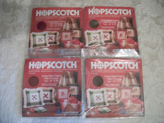 Hopscotch vintage cross stitch fabric by charles craft inc for Charles craft cross stitch fabric