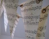 Musical Notes Love Songs Paper Bunting Garland 6 Meters