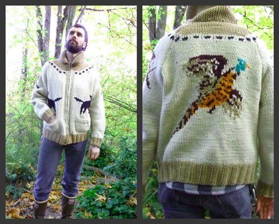 RESERVED// Northwestern Native 1950s Cowichan Indian Sweater Duck Hunting Knit Pattern
