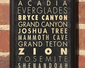 National Parks Vintage Style Wall Plaque Sign
