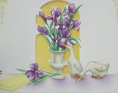 1940's To Mother and Father Easter Card - Paper Ephemera