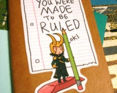 Loki says You Were Made To Be Ruled moleskin notebook