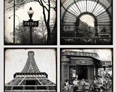 Paris Black and White Small Collection - 8 x 8 inches - Paris Photo - Fine Art Photography - Paris Decor - Paris Photography