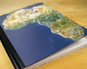 Upcycled Journal Notebook with map of Africa