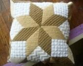 Tan Tone Star Throw Pillow
