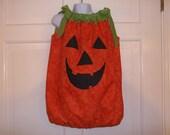 Pumpkin Fall Pillowcase Dress, Girl Halloween Costume, Custom Boutique Fall Children Clothing